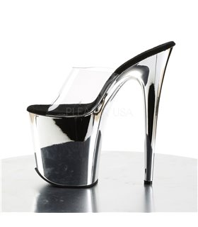 Plateau High Heels FLAMINGO-801 - Chrom