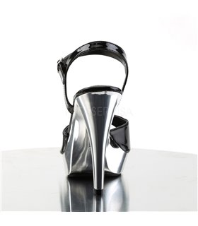 Sandalette COCKTAIL-509 - Schwarz/Chrom