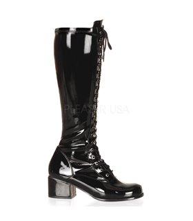 Retro Stiefel RETRO-302 - Lack Schwarz
