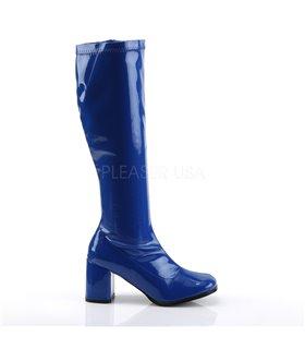 Retro Stiefel GOGO-300 - Lack Blau