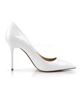 SALE /% Plateau Satin High Heels Peep Toe Pumps Ivory Pleaser USA Burlesque Gr.39