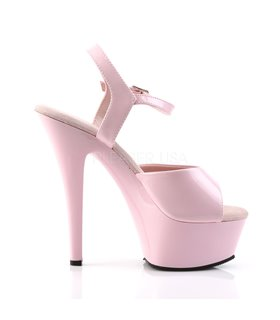 Plateau High Heels KISS-209 - Lack Baby pink