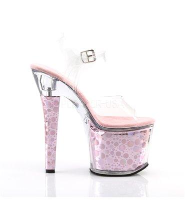 Demonia Daisy-04 Ballerinas im Glitter Leo-Look