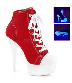 Canvas High Heel Sneakers DELIGHT-600SK-02 - Rot