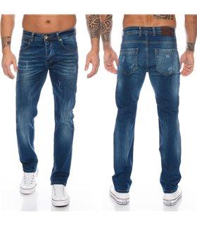 Herren Jeans Stretch Regular Slim Dunkelblau RC-2110