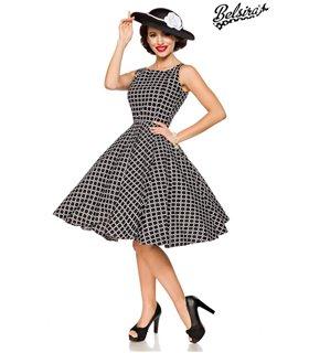 Belsira Vintage-Kleid schwarz/weifl - midi Kleider
