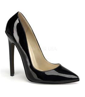 Stiletto High Heels SEXY-20 - Lack Schwarz