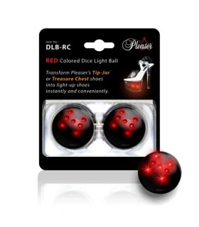 Pleaser Dice Light Balls Rot