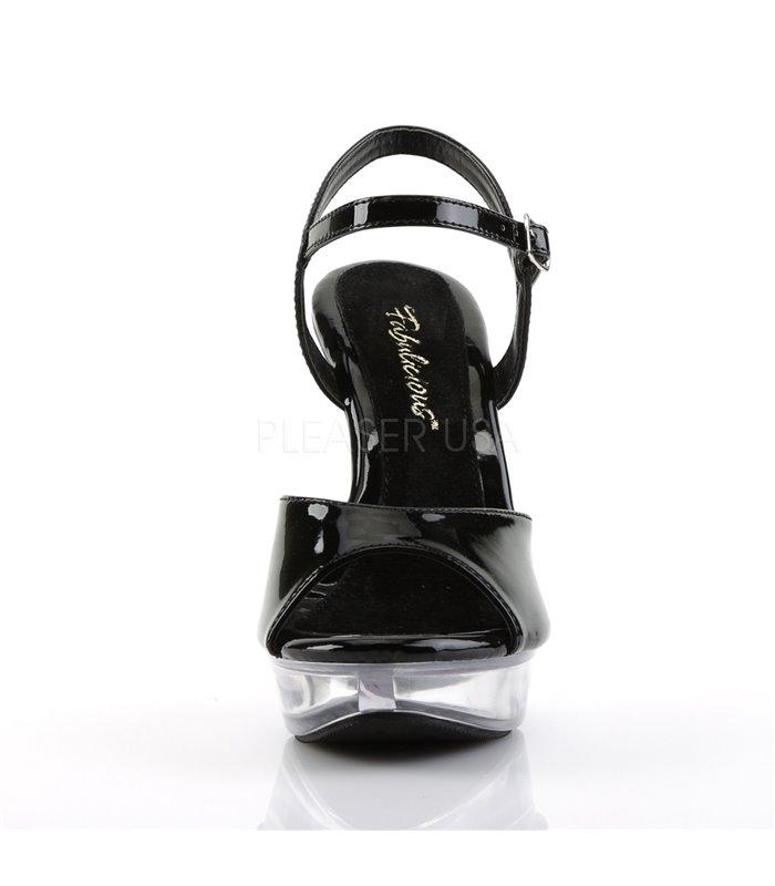 Sandalette COCKTAIL-509 - Schwarz/Klar