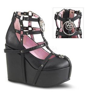 Demonia SPRITE-03 Gothik/Punk Schuhe Babypink