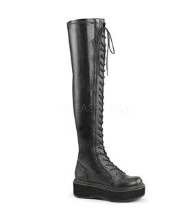 Demonia STAR-24 Gothik/Punk Schuhe Lack Rot