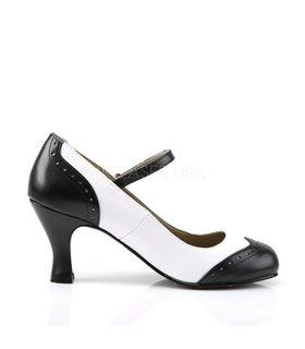 FUNTASMA High Heel Stiefelette mit Weitschaft, VICTORIAN-116X - Schwarz