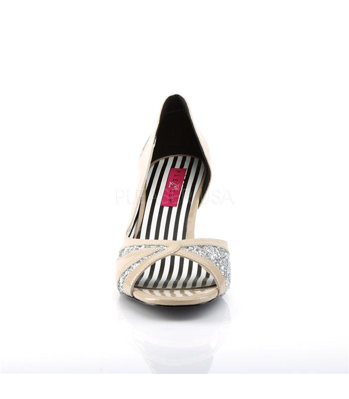 Pleaser Sandaletten Pleaser Pink Label JENNA-03 beige