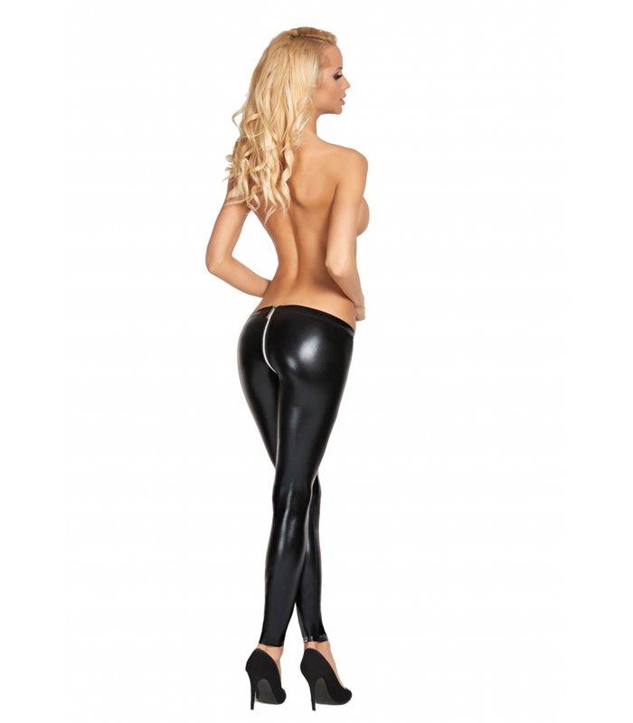 VALERA Wetlook Zipper Leggings - Black