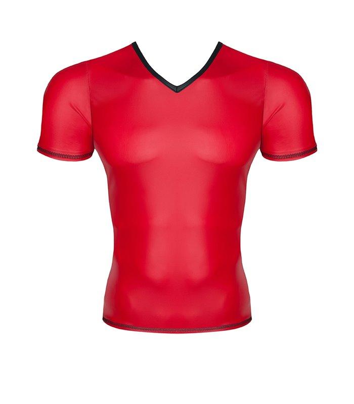 Wetlook Men's v-neck t-shirt - Red
