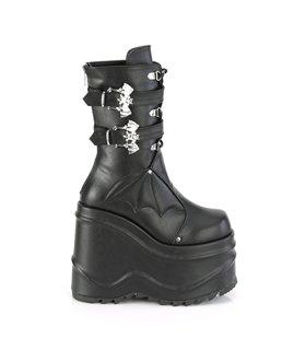 Overknee Stiefel COURTLY-3005 - Nylon Schwarz