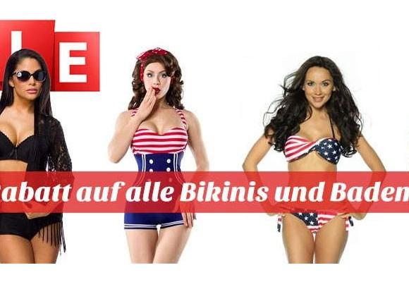15% Rabatt auf Bademoden und Bikinis