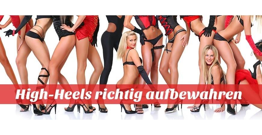 High Heels aufbewahren - normal, speziell, trendy